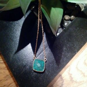 Argento Vivo Gold Sterling Turquoise Necklace
